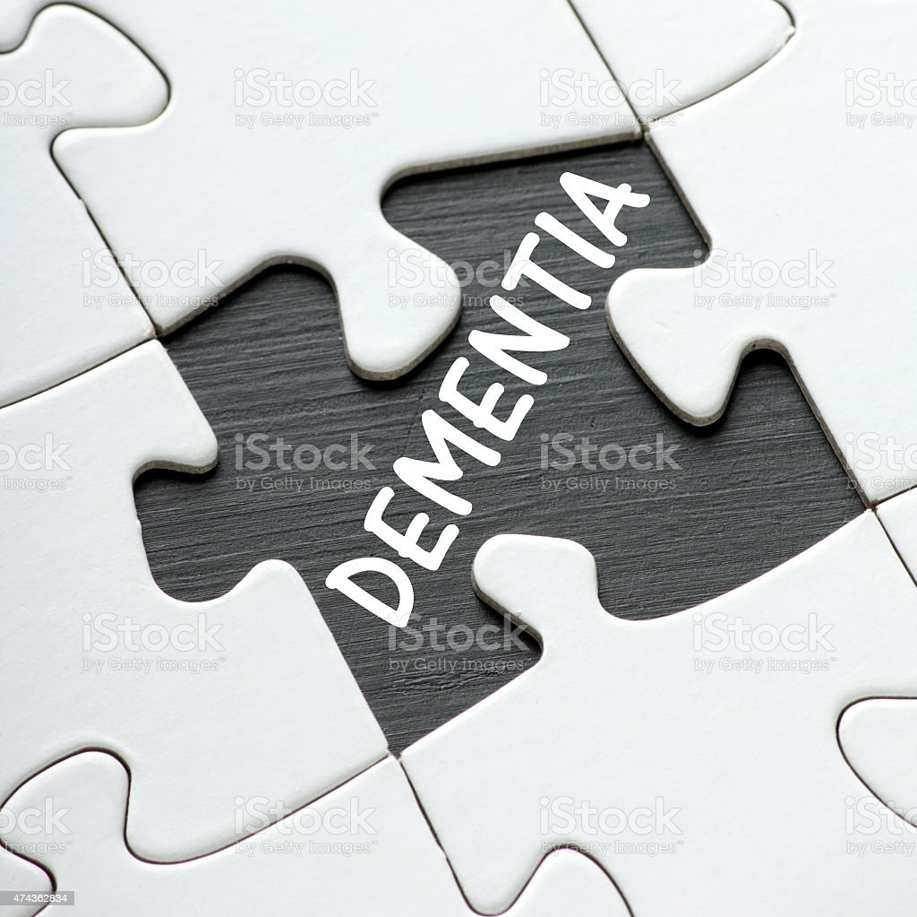 Dementia Puzzle stock photo