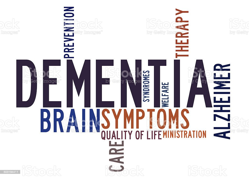 Dementia word cloud stock photo