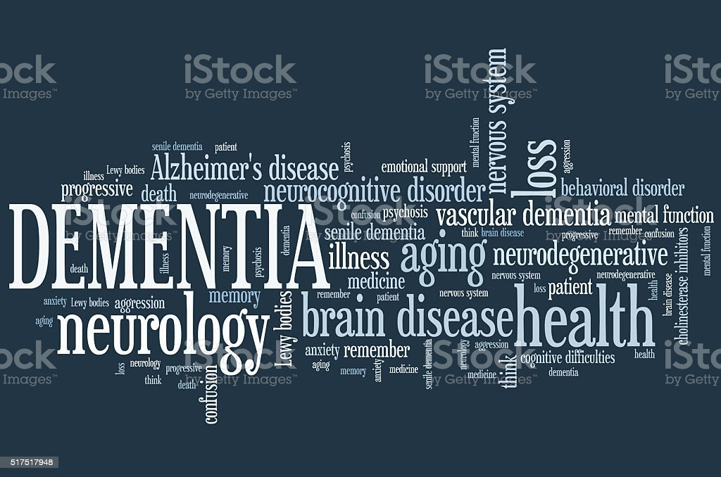 Dementia word cloud stock photo