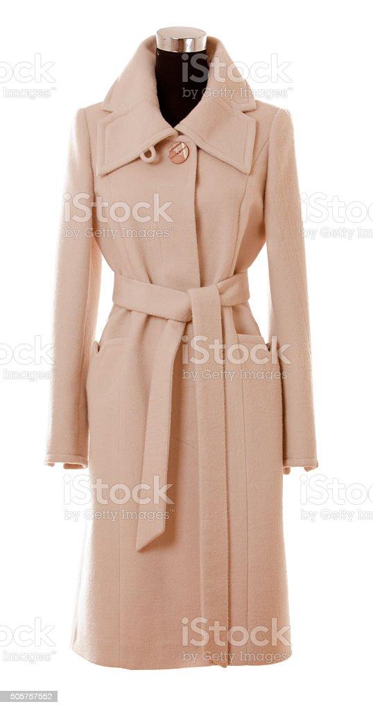 demi season coat stock photo