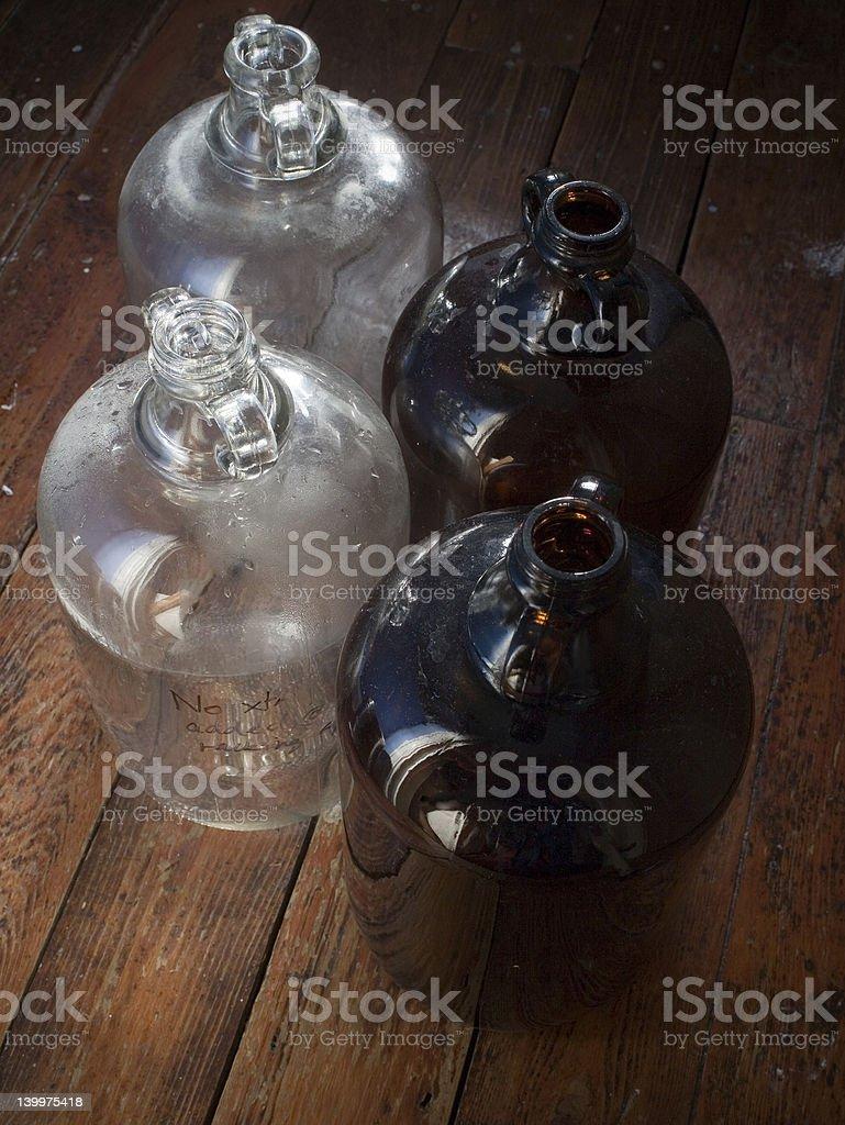 Demijohn Bottles royalty-free stock photo