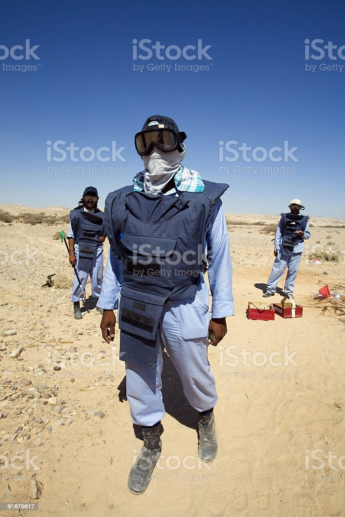 deminers royalty-free stock photo