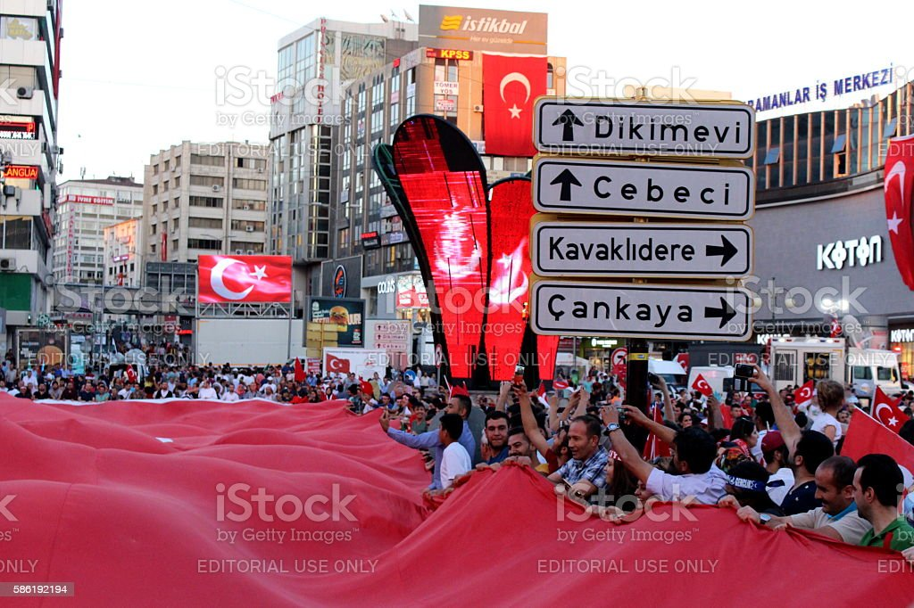 Democracy Watch in Ankara stock photo