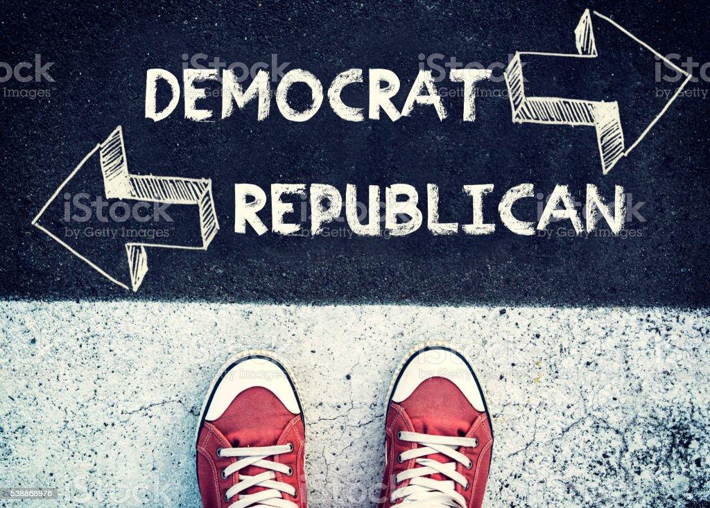 Democrat and Republican stock photo