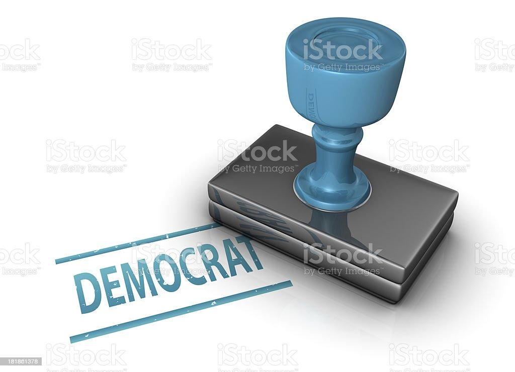 Democrat Stamp royalty-free stock photo