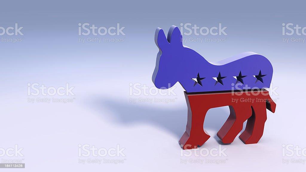 Democratic Donkey Symbol stock photo