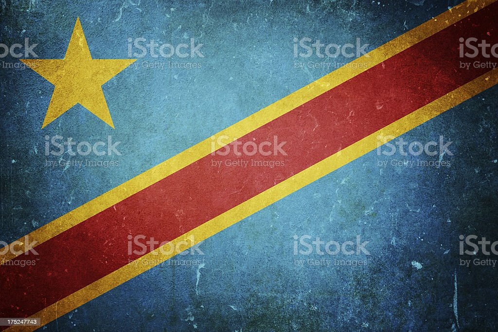 Democratic Republic of the Congo Flag royalty-free stock photo