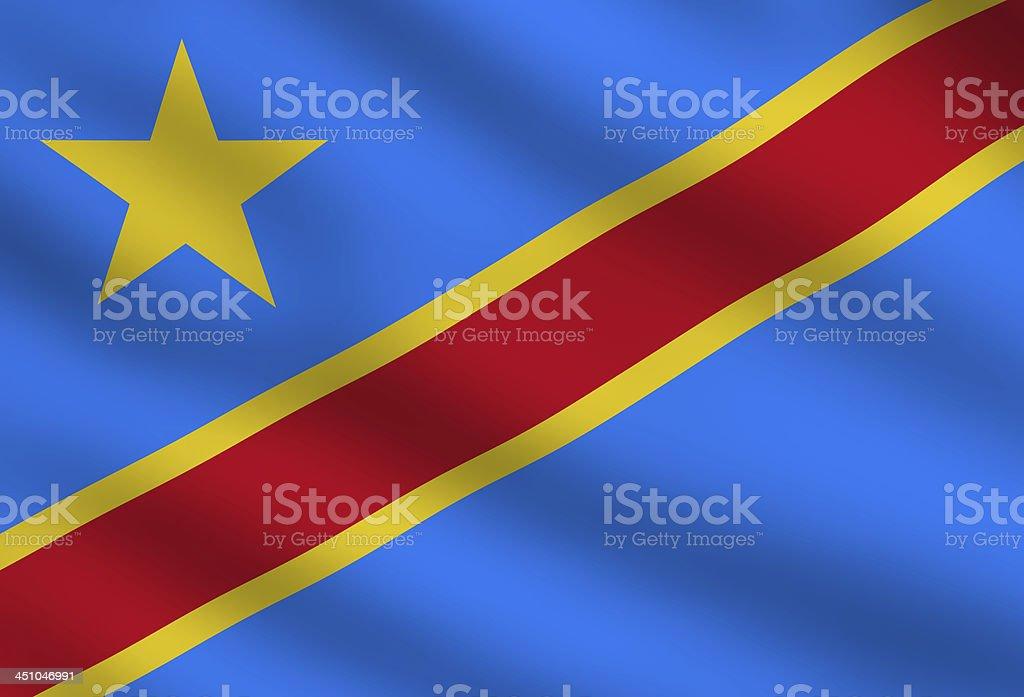 Democratic Republic of the Congo flag stock photo