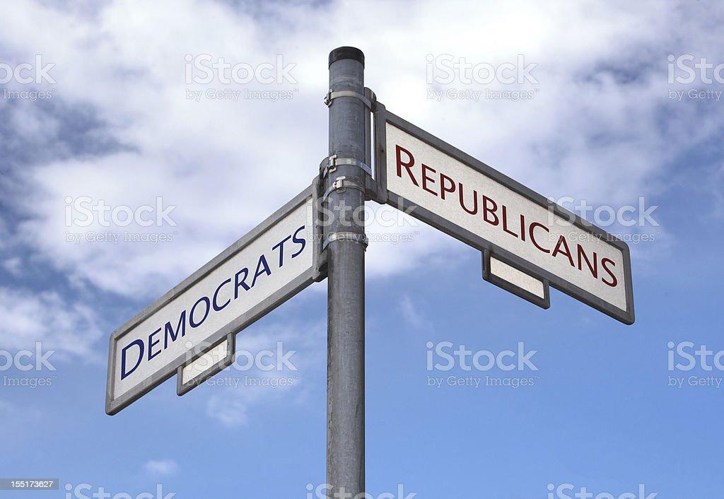 Democrats and Republicans choice royalty-free stock photo