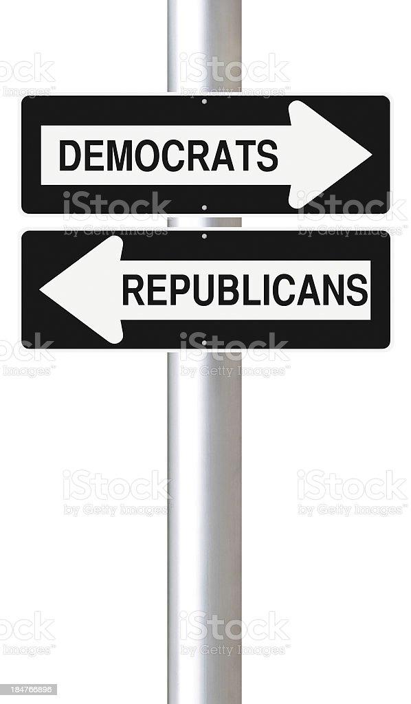 Democrats or Republicans royalty-free stock photo