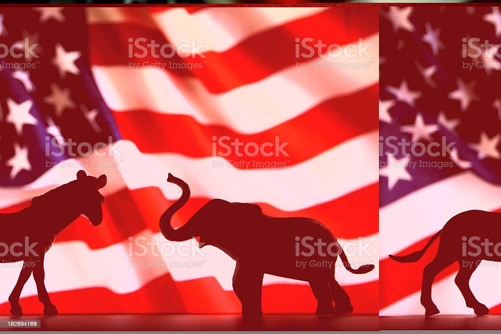 Democrats VS Republicans stock photo