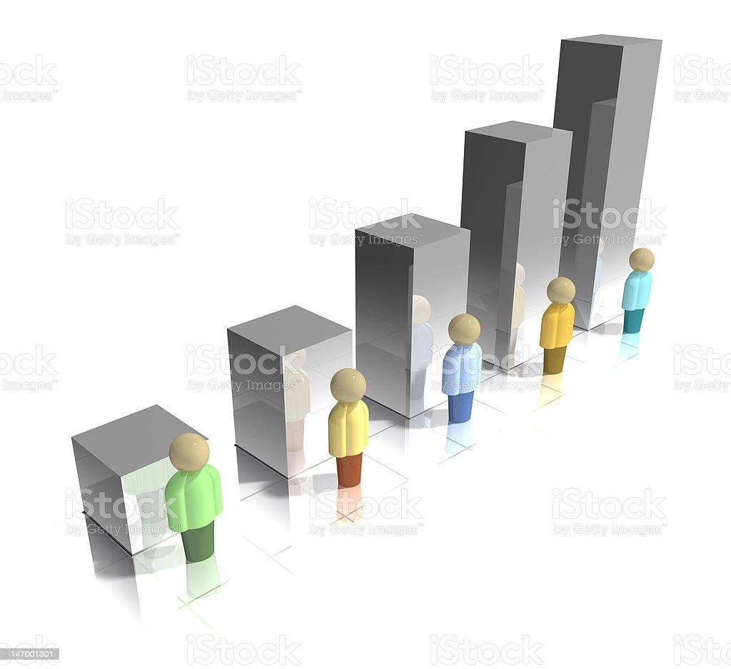 3D Demographic Bar Graph stock photo