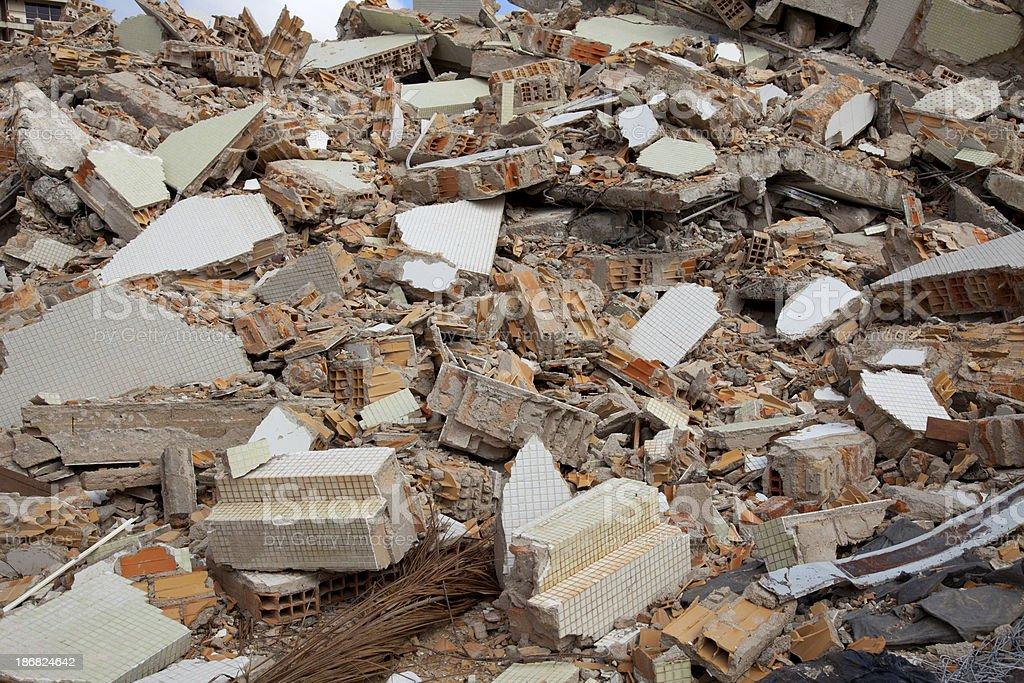 Demolished backgrounds construction stock photo