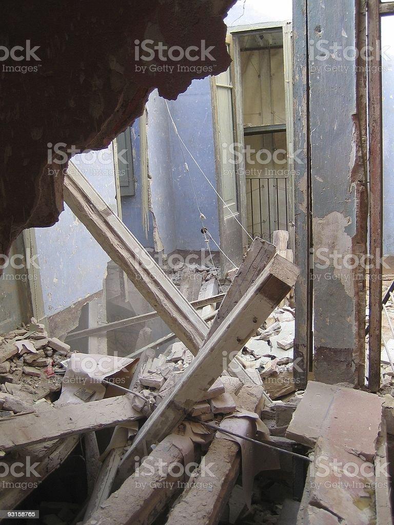 Demolished Building royalty-free stock photo