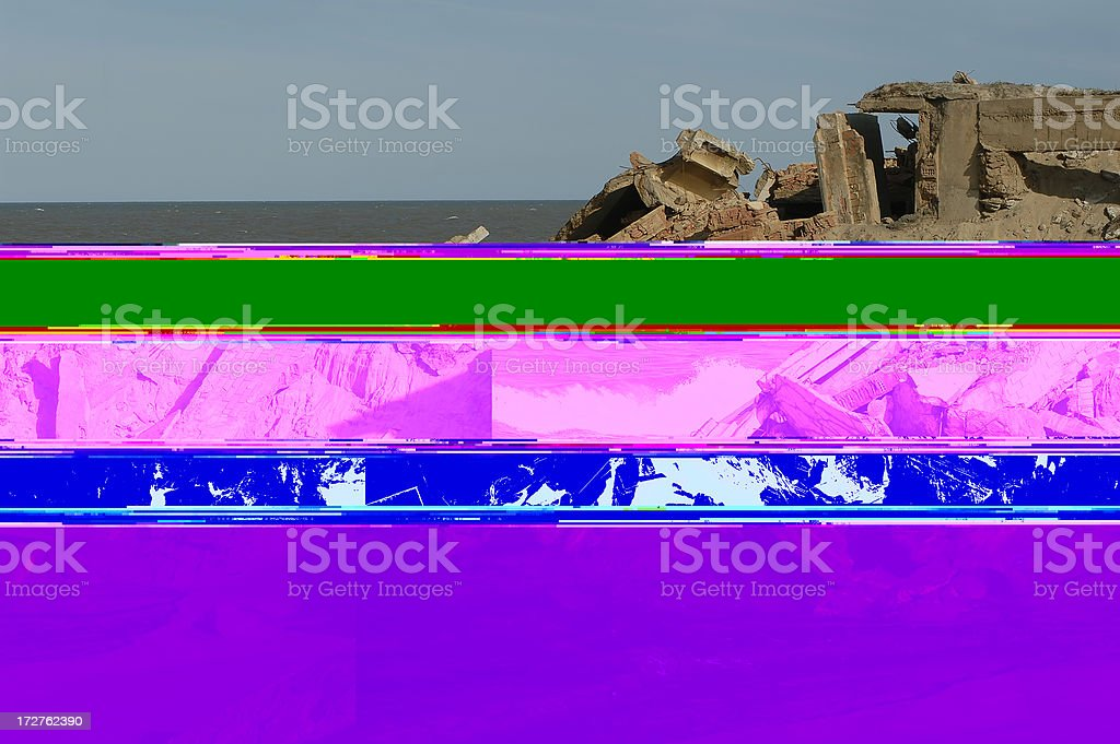 demolished by the ocean royalty-free stock photo