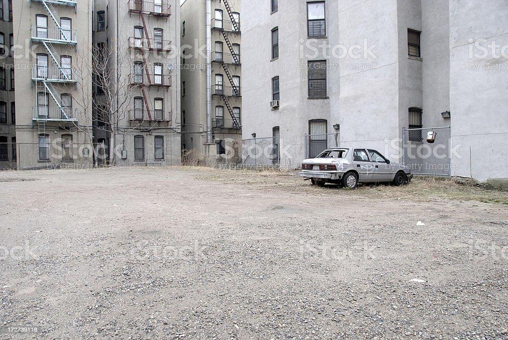 Demolished car stock photo