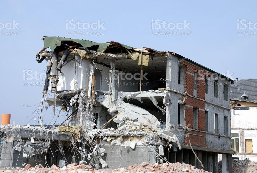 Demolished house royalty-free stock photo