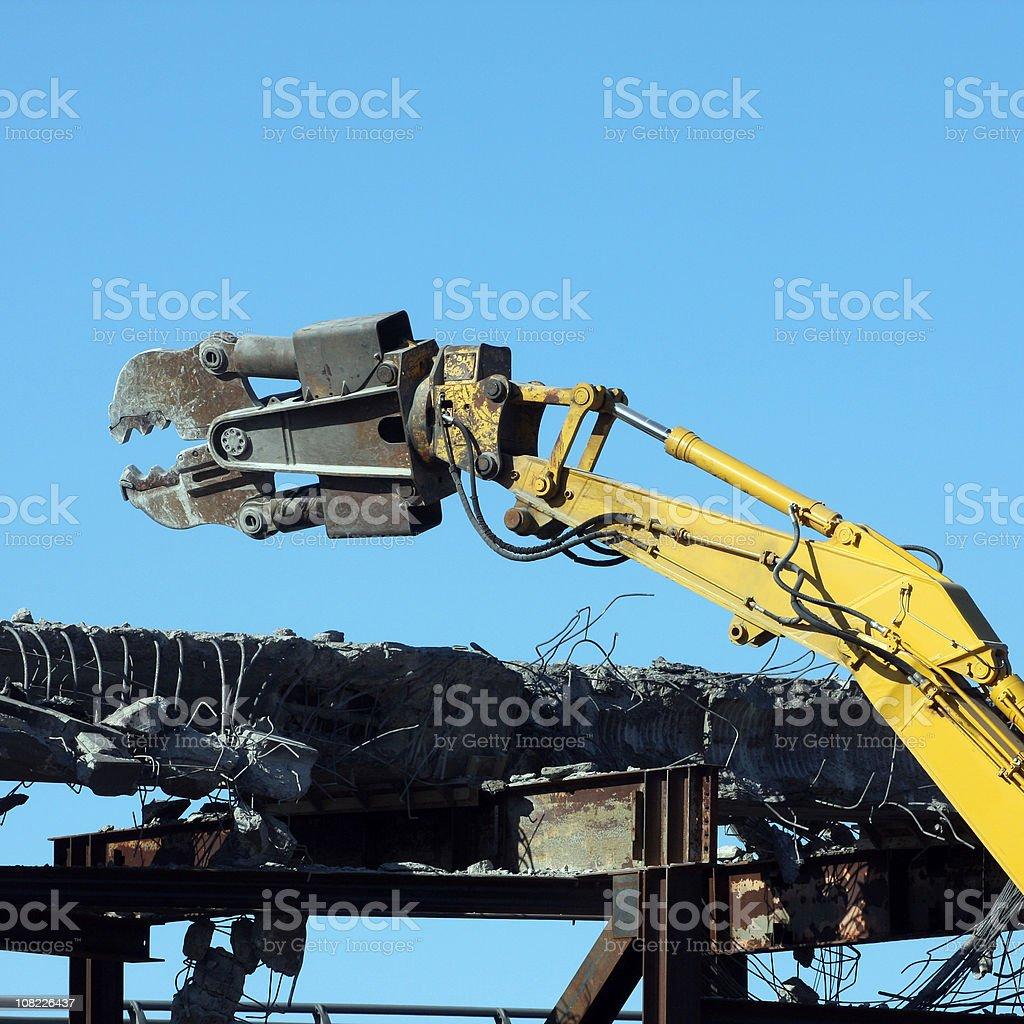 Demolishing An Overpass Series royalty-free stock photo