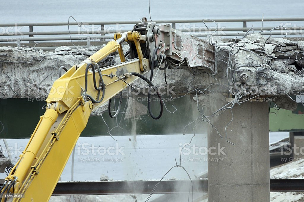 Demolishing An Overpass Series royalty-free stock photo