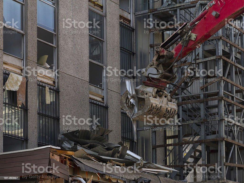 Demolishing of a building. royalty-free stock photo