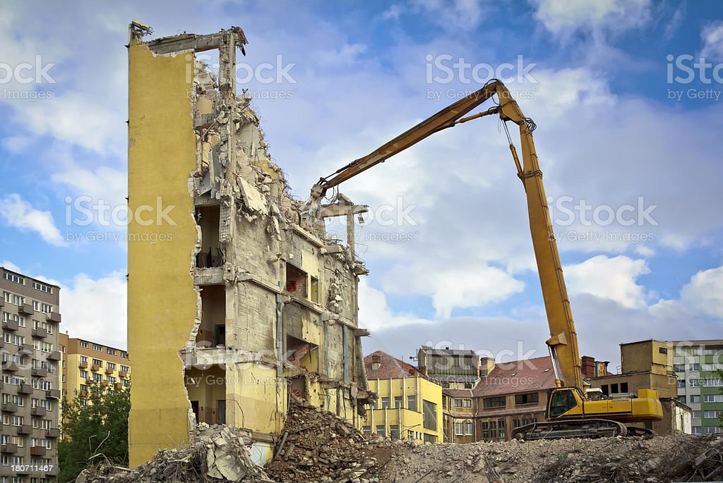 Demolishing royalty-free stock photo