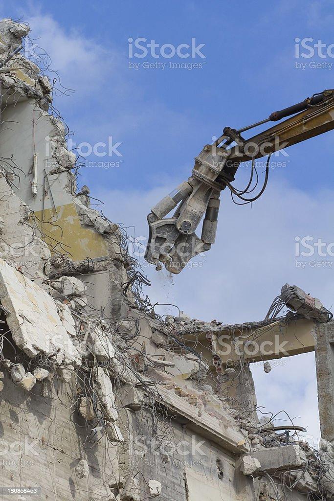 Demolishing stock photo