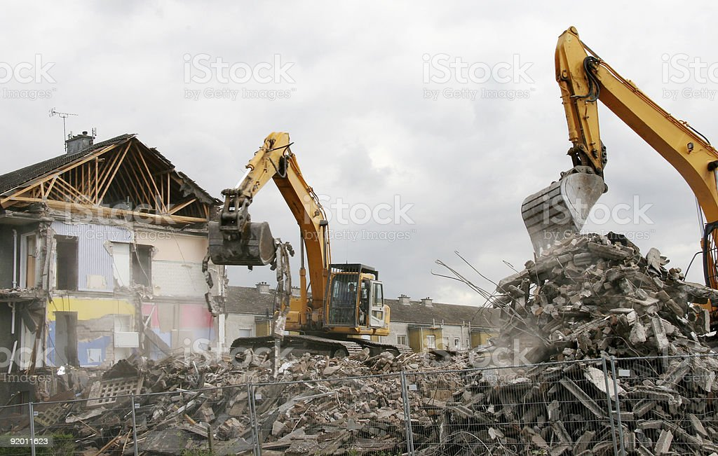 Demolition 1 stock photo