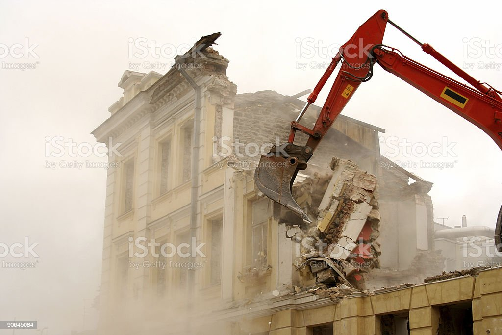 demolition 3 royalty-free stock photo