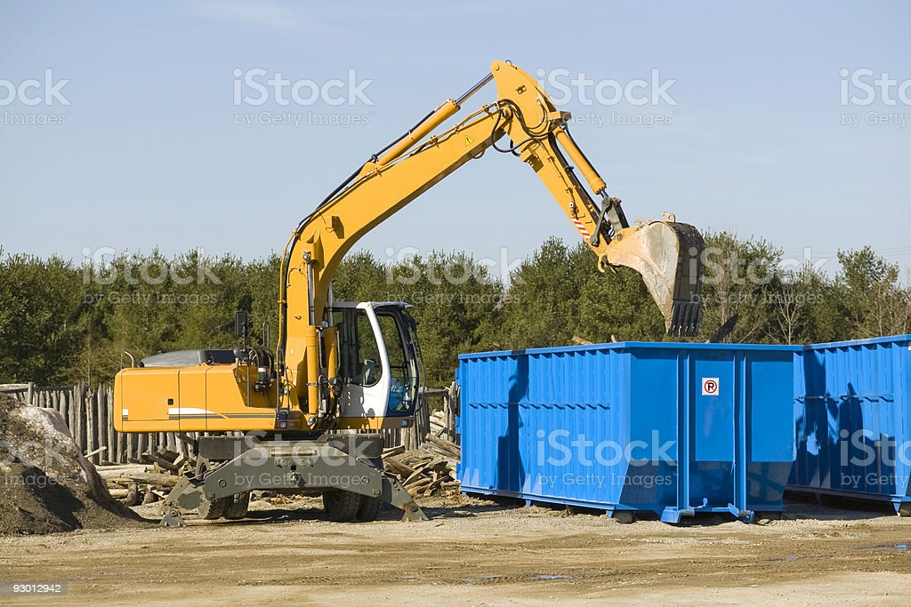 demolition bulldozer stock photo