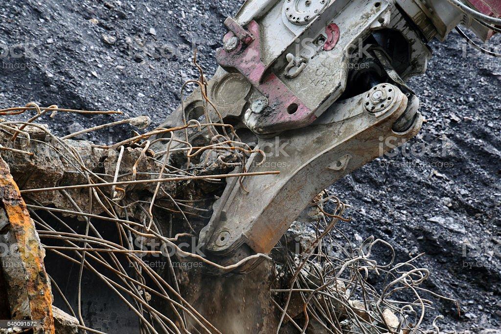 Demolition drill stock photo