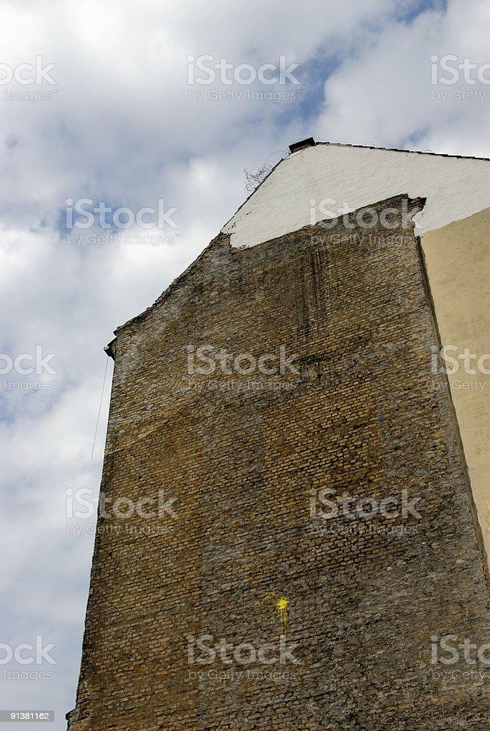 Demolition Facade stock photo