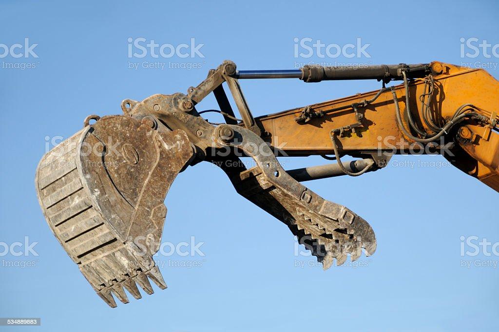 Demolition grapple  bucket stock photo
