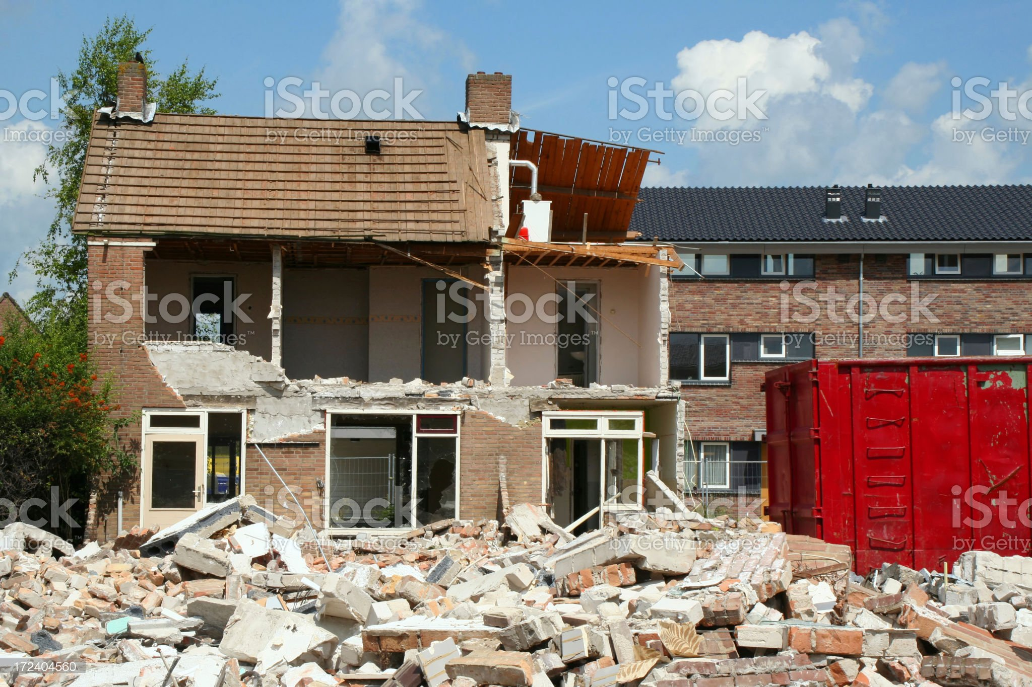 Demolition house # 1 royalty-free stock photo