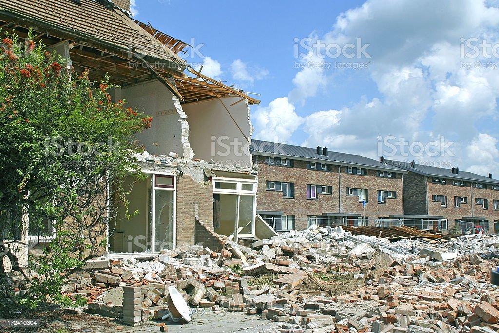 Demolition house # 3 royalty-free stock photo