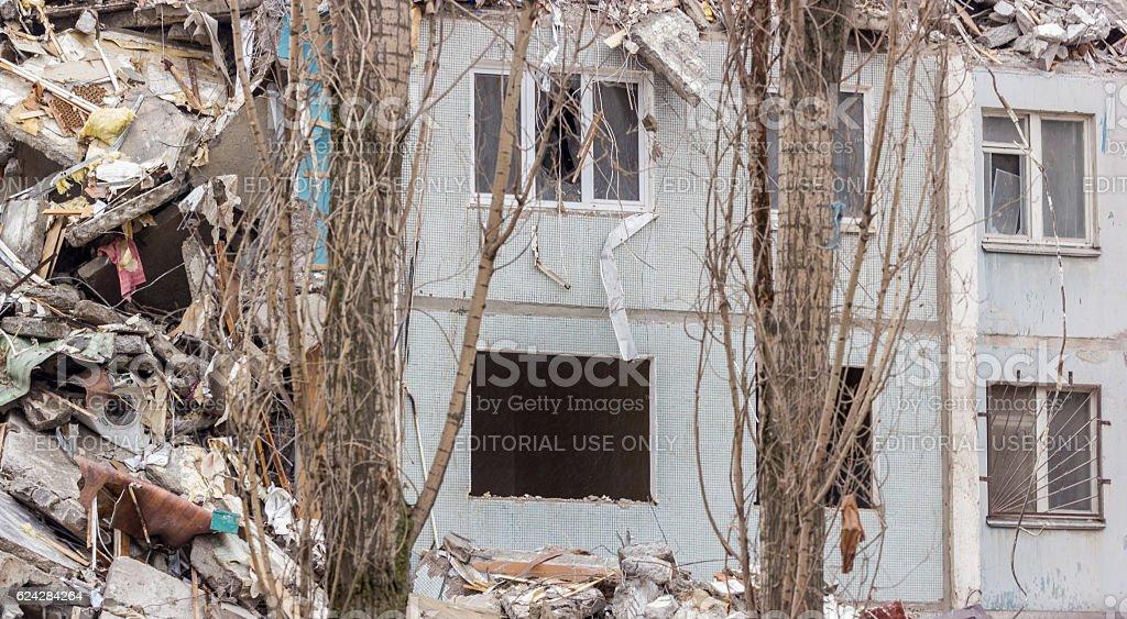 Demolition House. stock photo