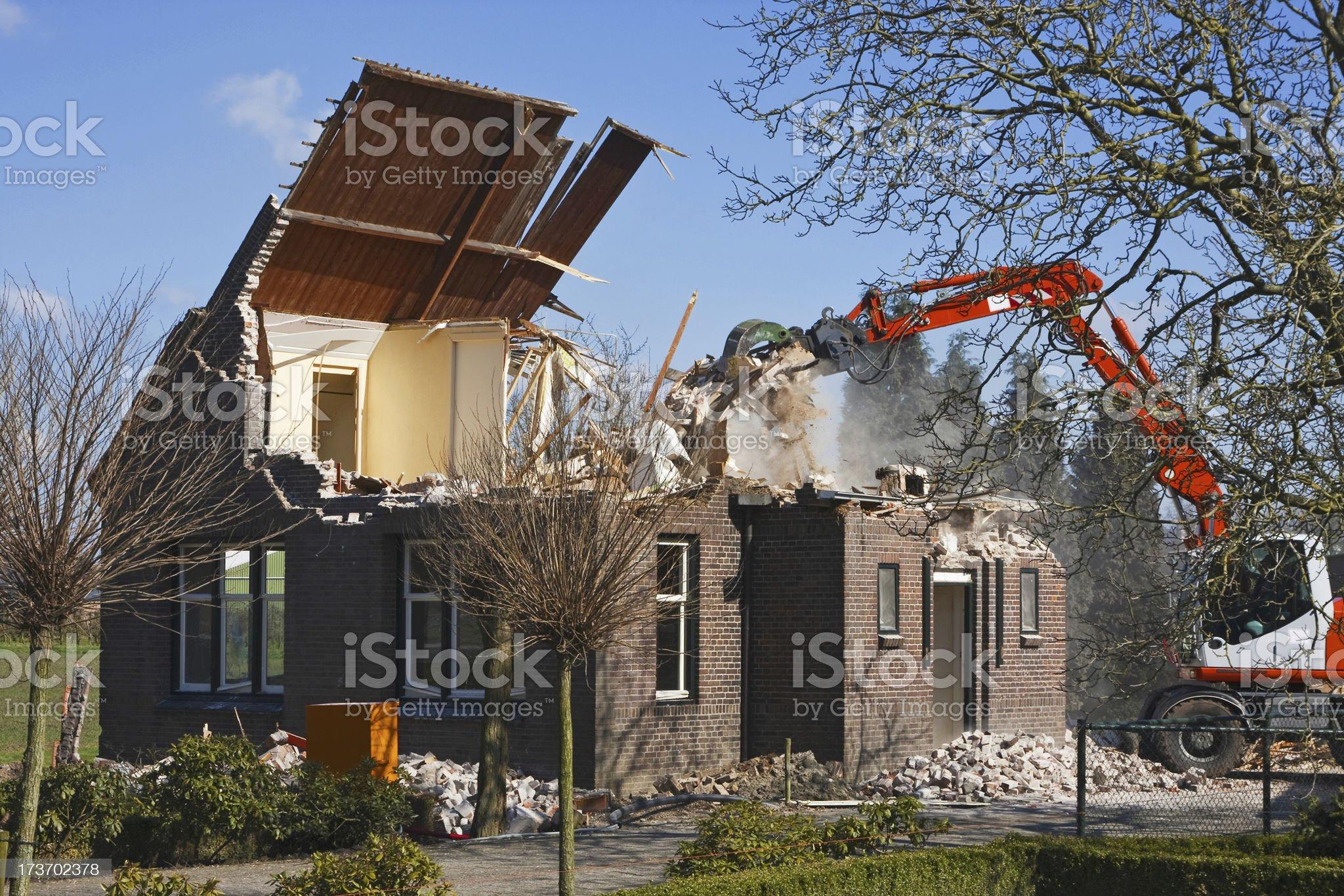 Demolition house # 4 XL royalty-free stock photo