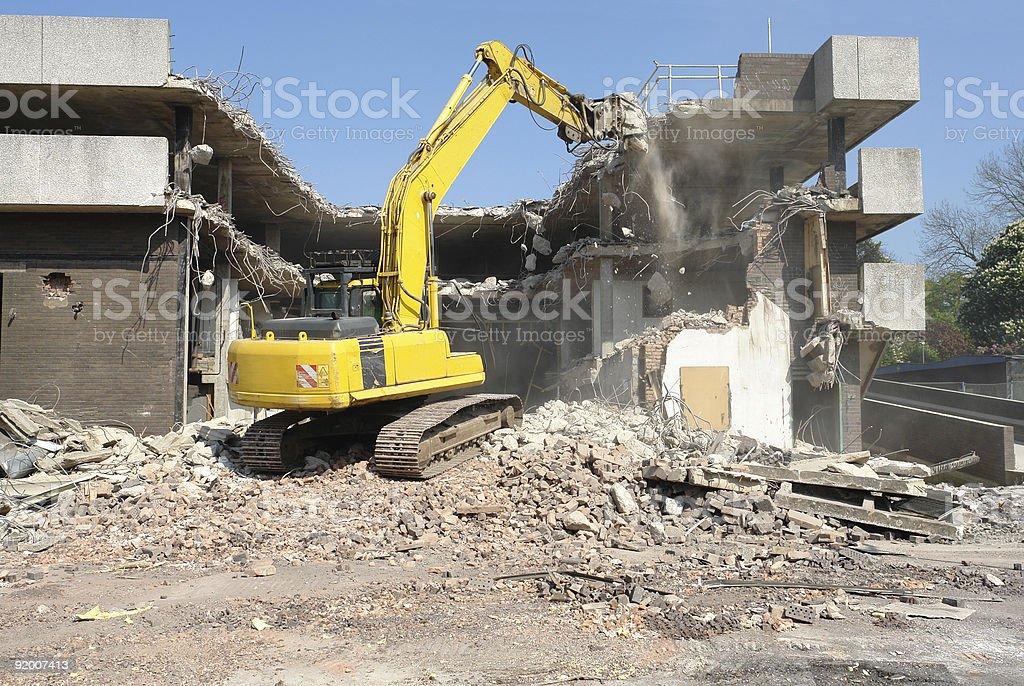 Demolition Machine. royalty-free stock photo