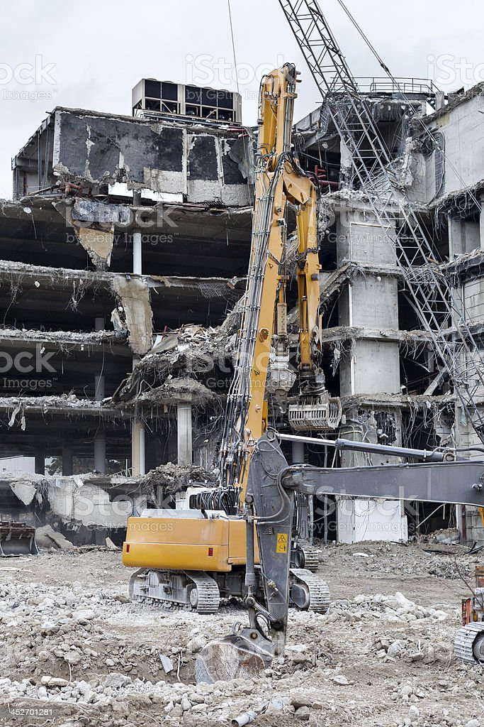 Demolition of a building royalty-free stock photo