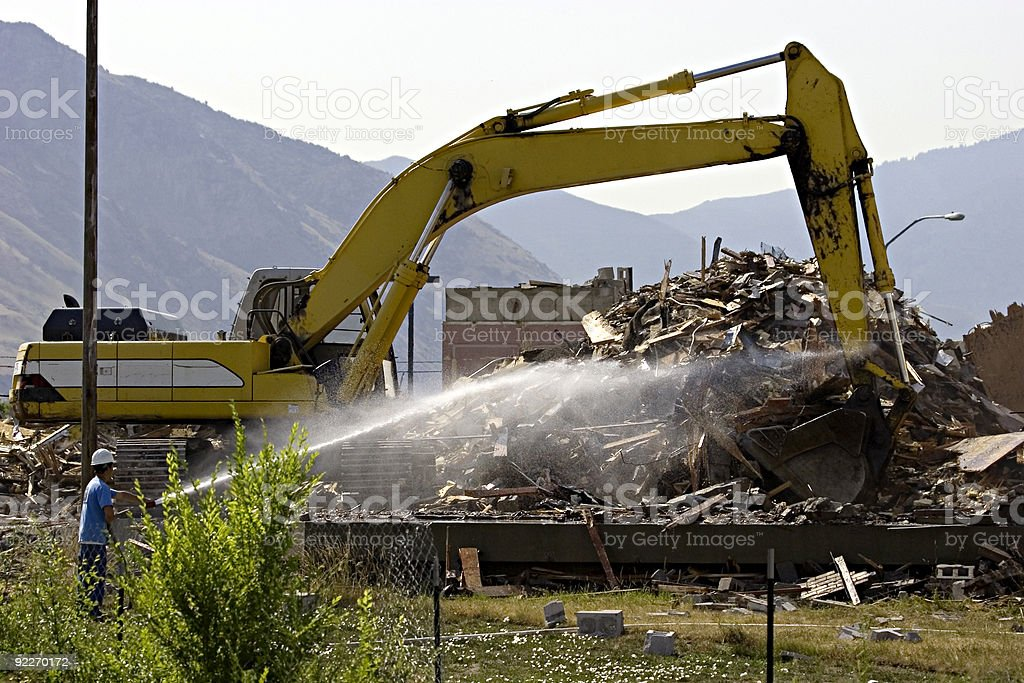 Demolition of a Building. royalty-free stock photo