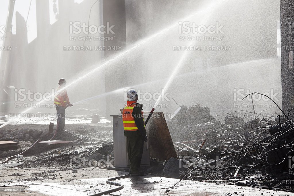 Demolition of Overpass Highway, Seattle royalty-free stock photo