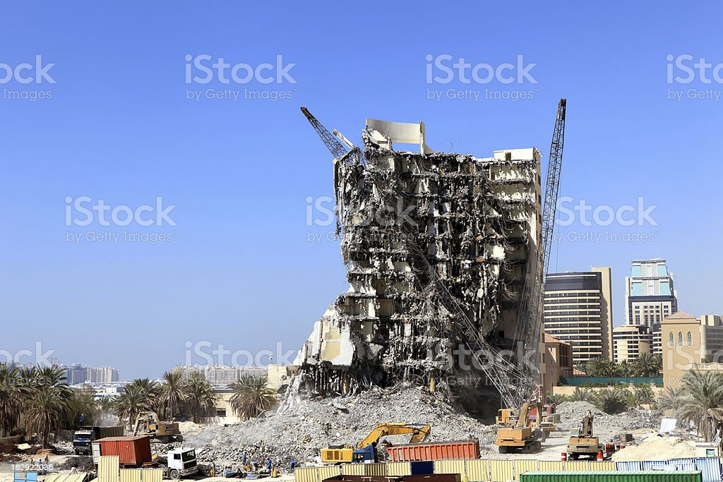 demolition or earthquake royalty-free stock photo