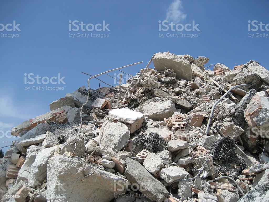 demolition royalty-free stock photo