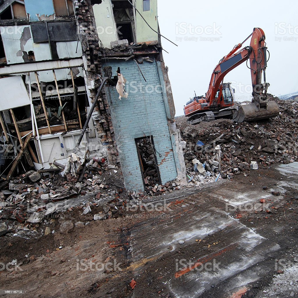 Demolition stock photo