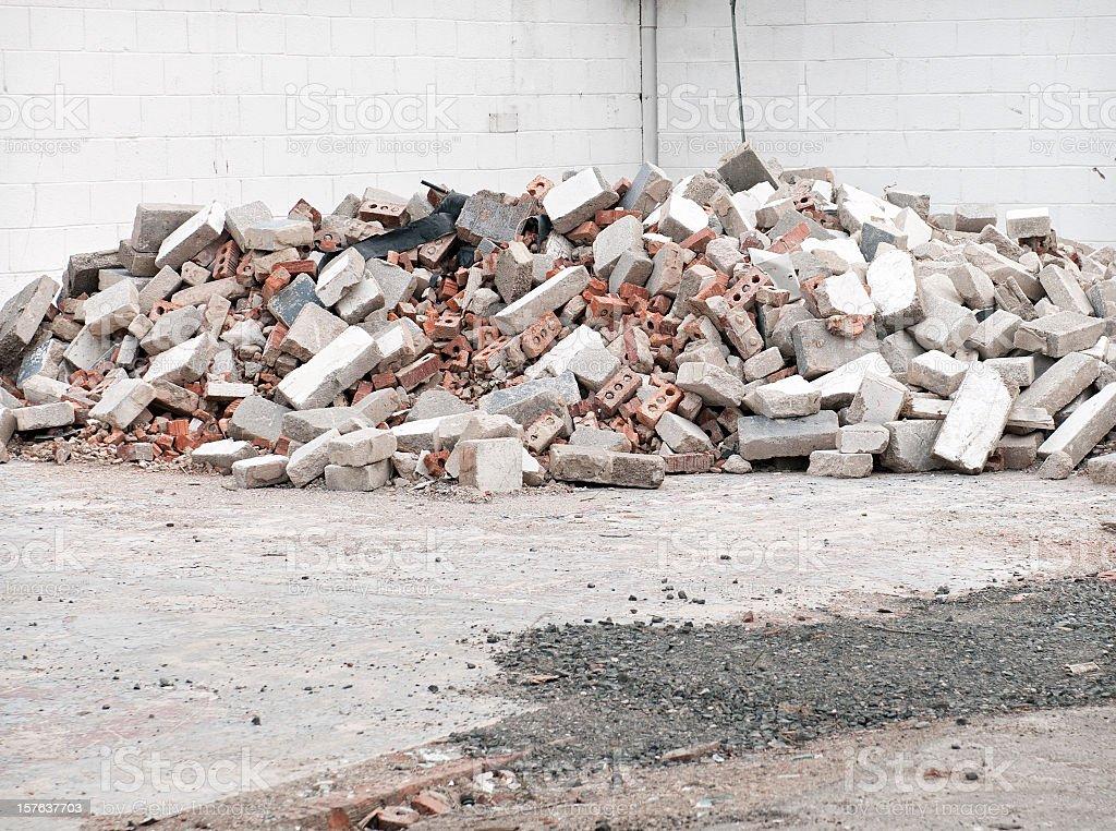 Demolition Rubble stock photo