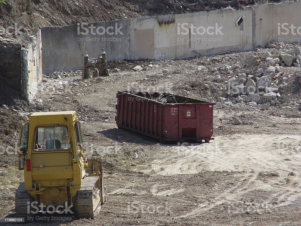 Demolition Site royalty-free stock photo