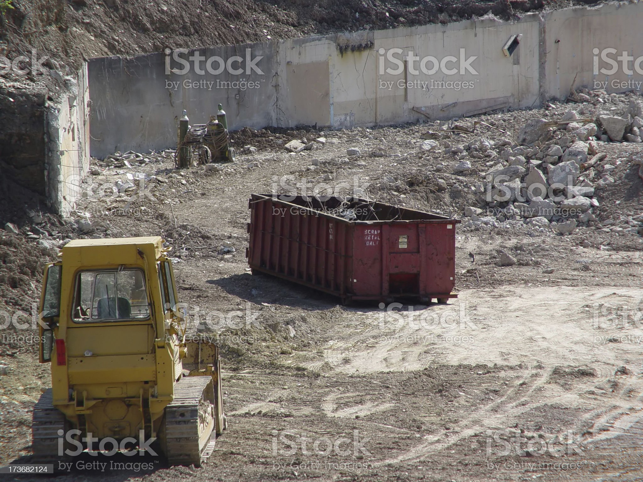 Demolition Site royalty-free stock photo