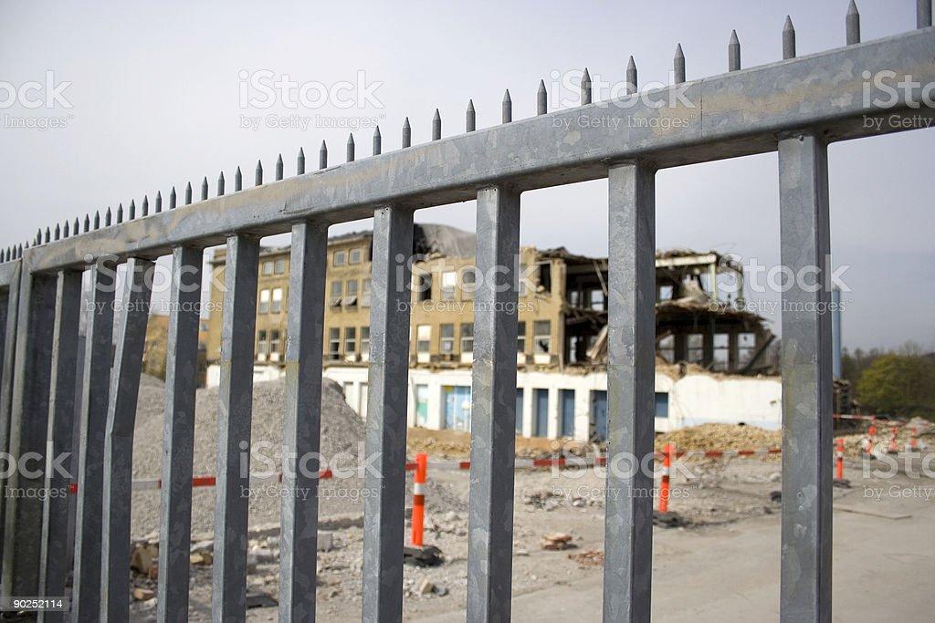 Demolition site stock photo