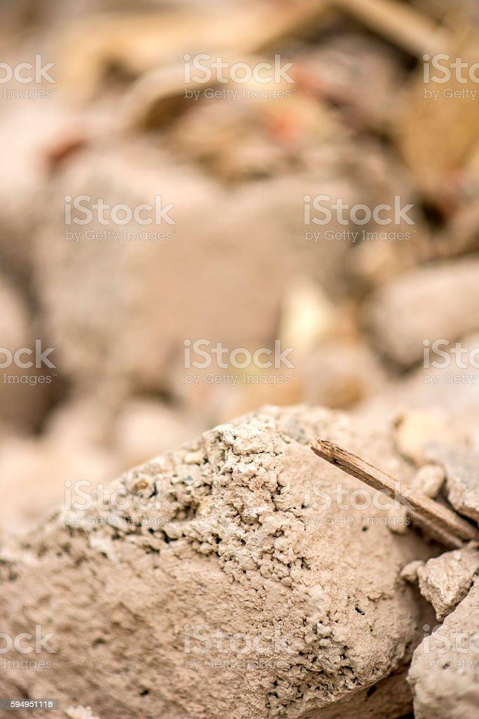 demolition trash stock photo