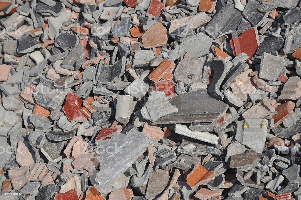 Demolition waste stock photo