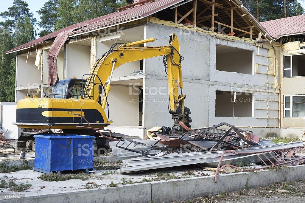 Demolition work stock photo